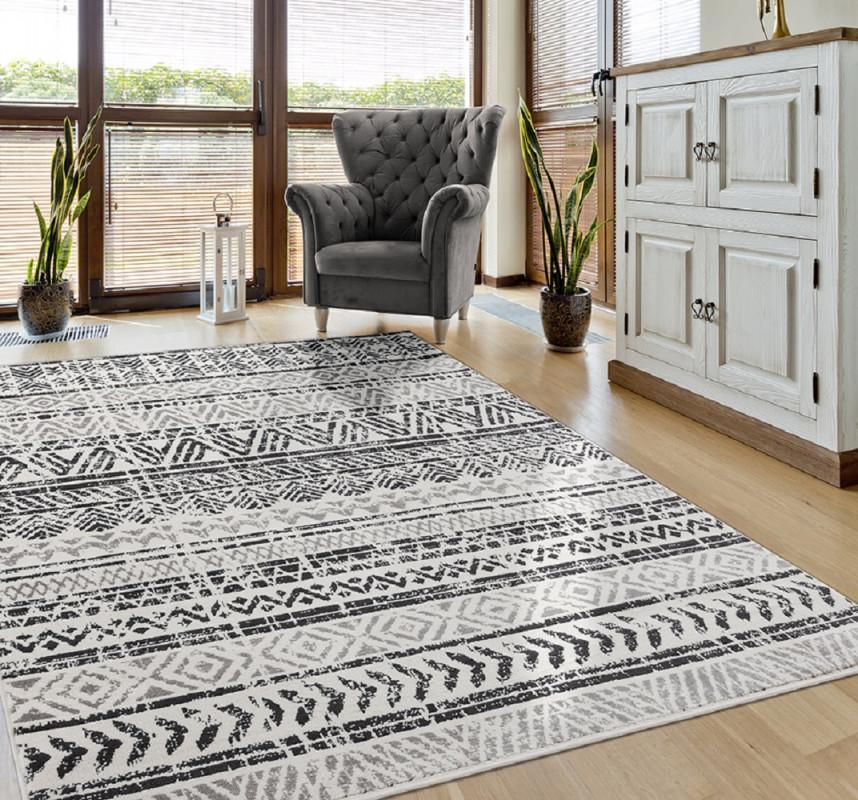 Teppich Skandinavische Muster In Grau von Teppich Wohnzimmer Skandinavisch Photo