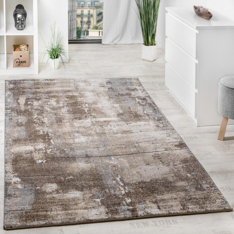Teppich Steinmauer Optik Beige Grau von Wohnzimmer Teppich Braun Beige Bild