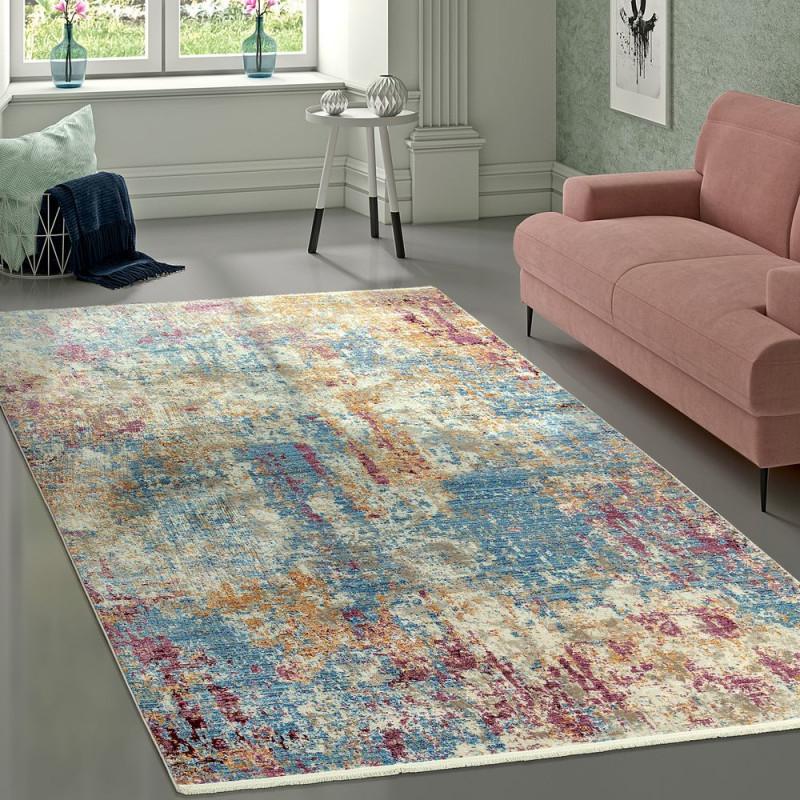 Teppich Vintage Abstrakt Mehrfarbig von Wohnzimmer Teppich Vintage Bild