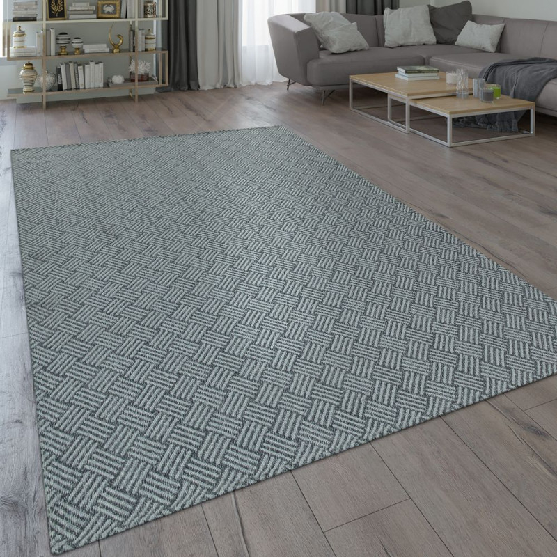 Teppich Webmuster Robust Grau von Wohnzimmer Teppich Grau Photo