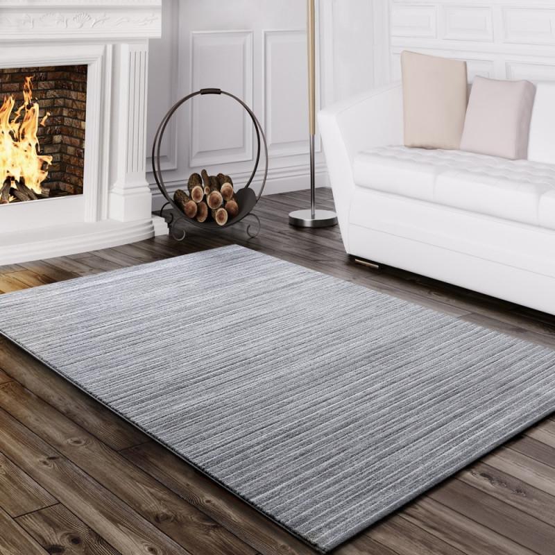 Teppich Wohnzimmer Gestreift Grau von Teppich Wohnzimmer Modern Bild