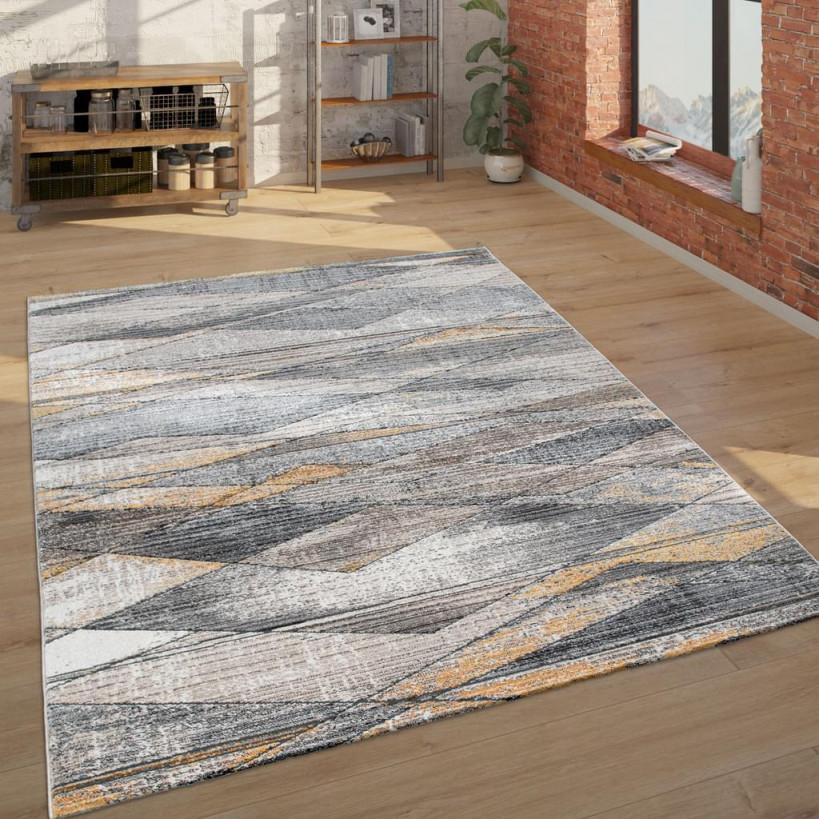 Teppich Wohnzimmer Kurzflor Modern Mit  Real von Wohnzimmer Teppich 300X400 Bild