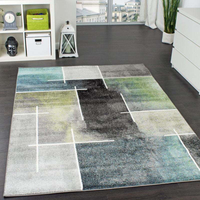 Teppich Wohnzimmer Meliertes Design von Wohnzimmer Teppich Grün Photo