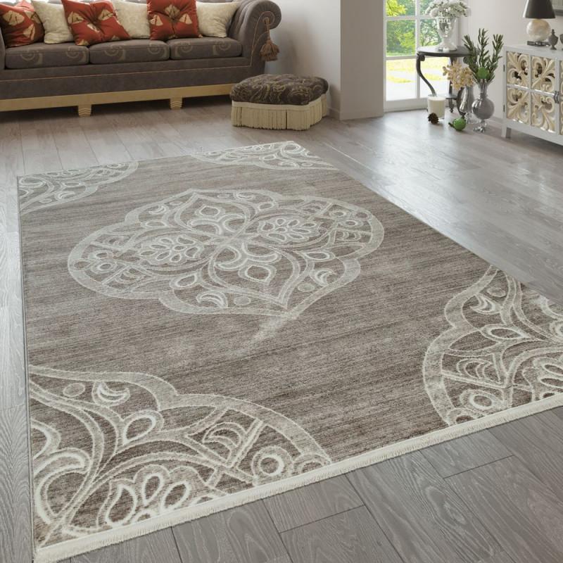 Teppich Wohnzimmer Orientteppich Beige  Teppich Wohnzimmer von Teppich Wohnzimmer Beige Bild