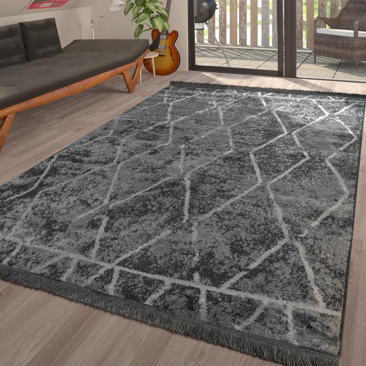 Teppich Wohnzimmer Skandinavisch Karo In Verschiedenen Farben von Teppich Wohnzimmer Skandinavisch Bild