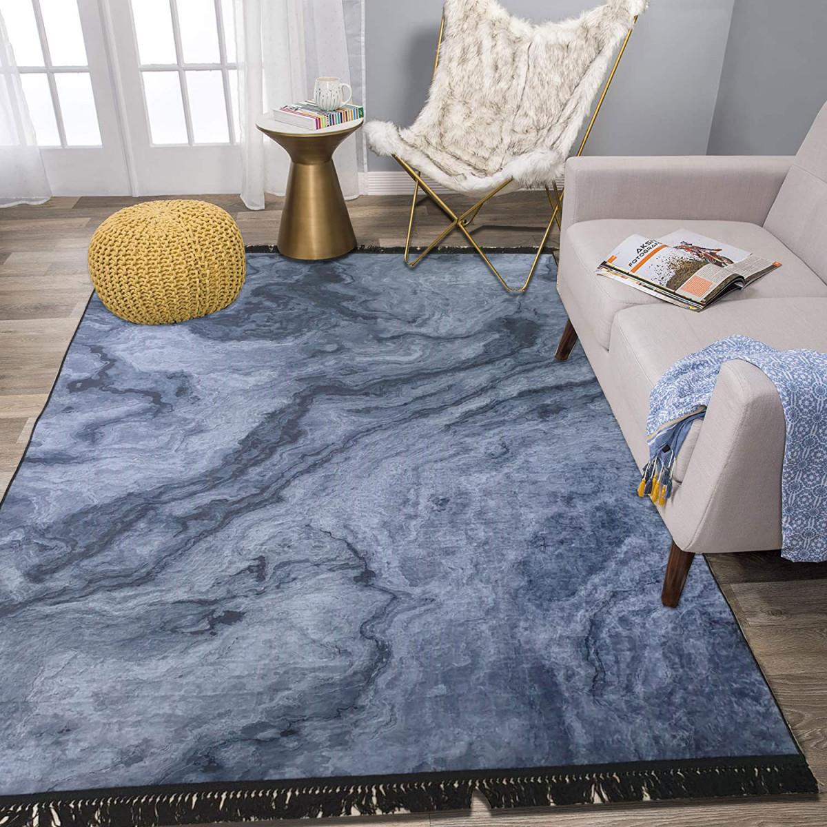 Teppich Wohnzimmer Waschbarer Pflegeleicht Strapazierfähig Und  Schadstoffgeprüft Teppichläufer Rutsc von Pflegeleichter Teppich Wohnzimmer Bild