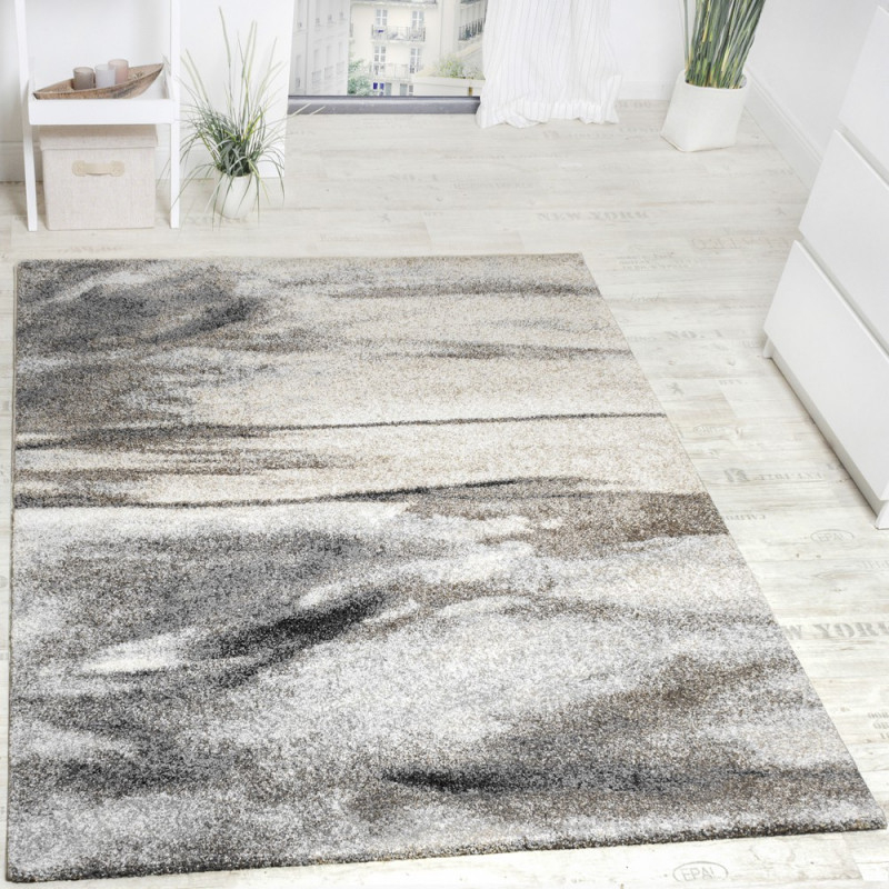 Teppich Wohnzimmer Webteppich Grau Beige von Grauer Wohnzimmer Teppich Photo