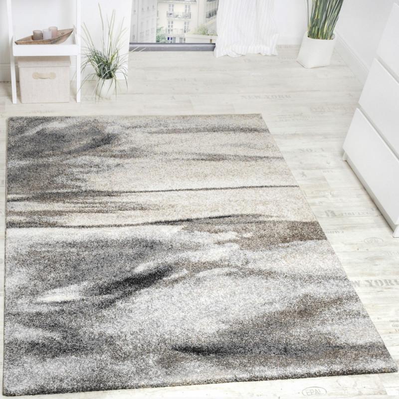 Teppich Wohnzimmer Webteppich Grau Beige von Teppich Wohnzimmer Grau Bild