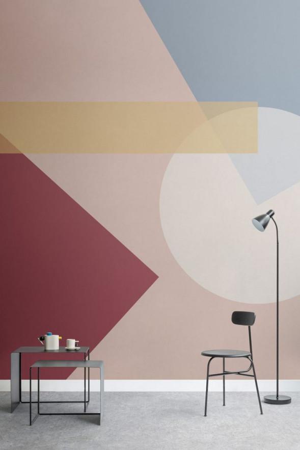 The New Bauhausinspired Collectionmurals Wallpaper von Tapeten Wohnzimmer Bauhaus Photo