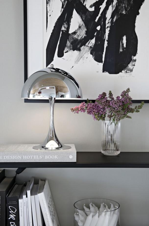 The New Panthella Mini Chrome  Stylizimo  Decor Lamp von Chrom Deko Wohnzimmer Photo