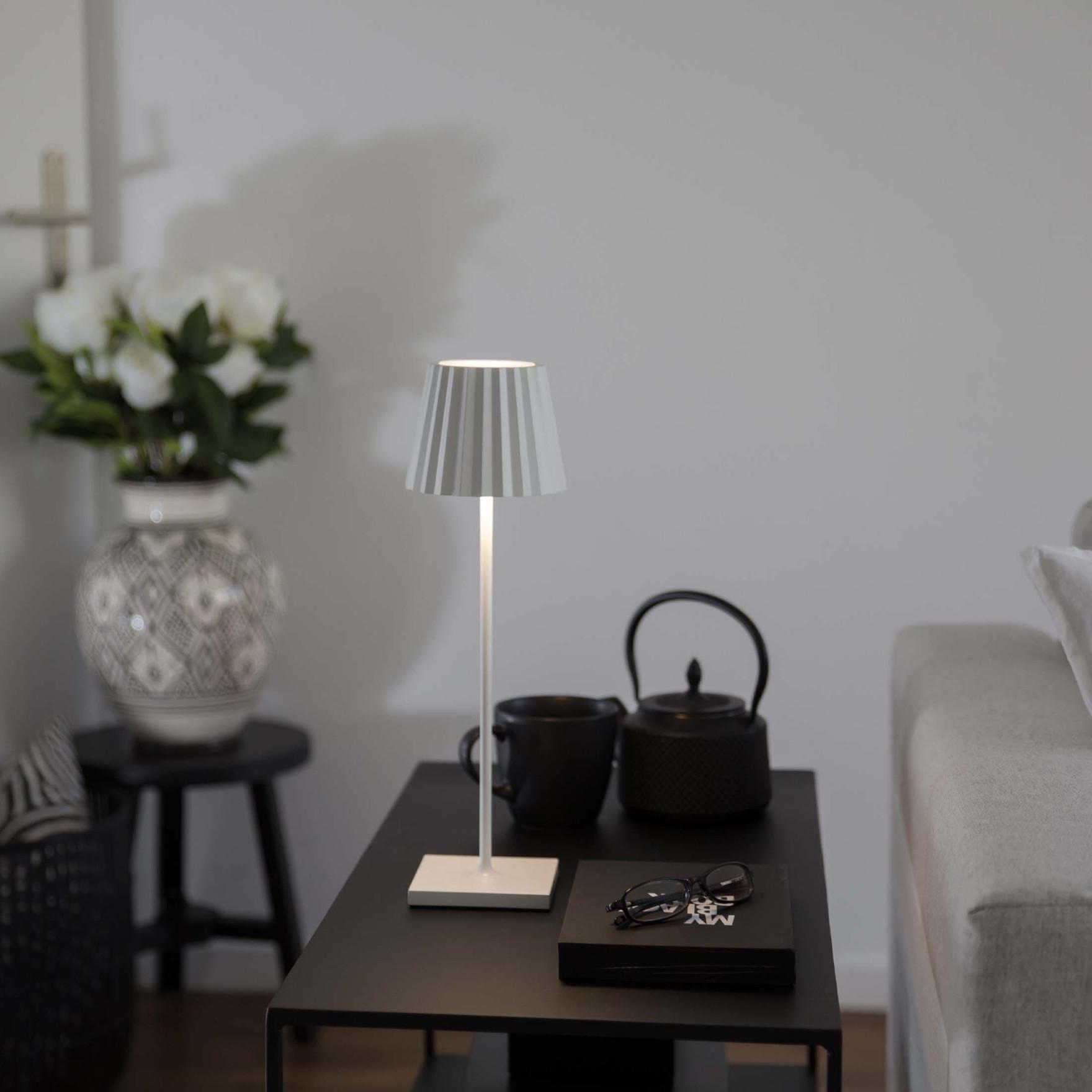 """Tischlampe Mit Akku """"white"""" Outdoor  Indoor von Akku Lampe Wohnzimmer Photo"""