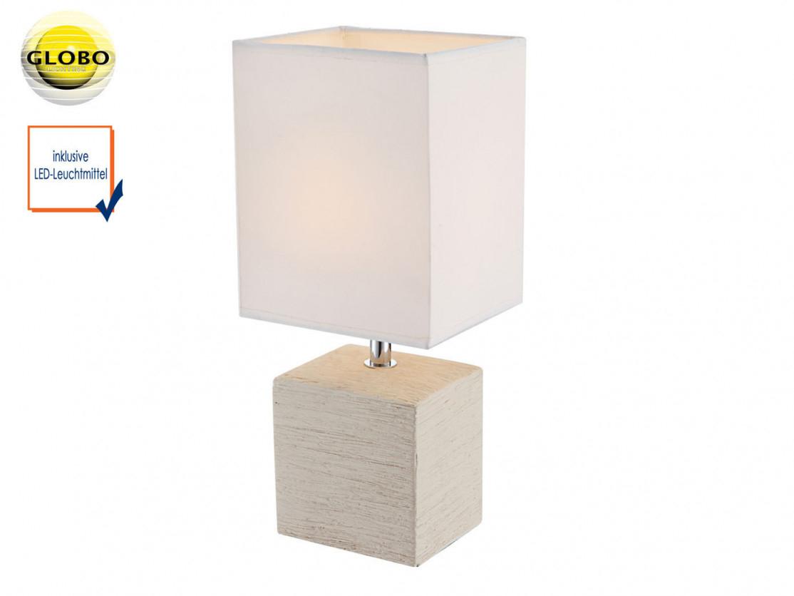 Tischlampe Mit Led Kleine Wohnzimmerlampe Klassisch Keramik von Wohnzimmer Lampe Weiß Bild