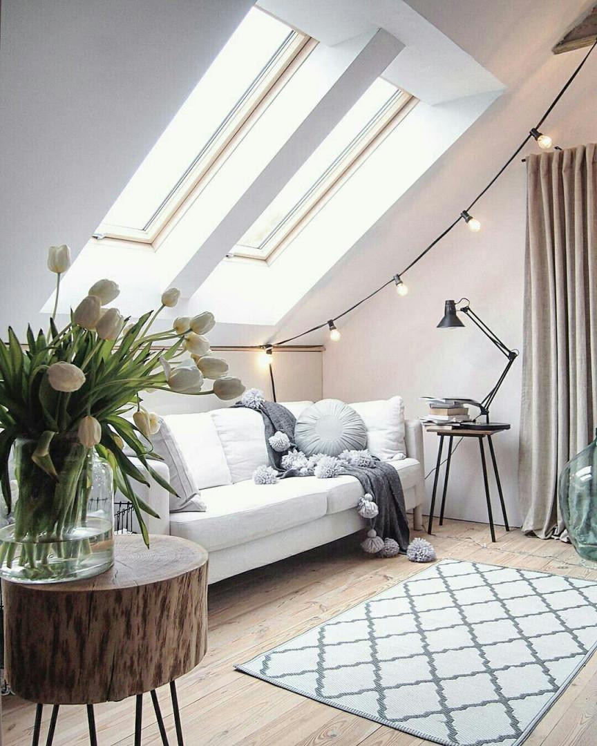 Tons Neutros @marzenamarideko (Mit Bildern)  Dachboden von Dachboden Wohnzimmer Ideen Photo