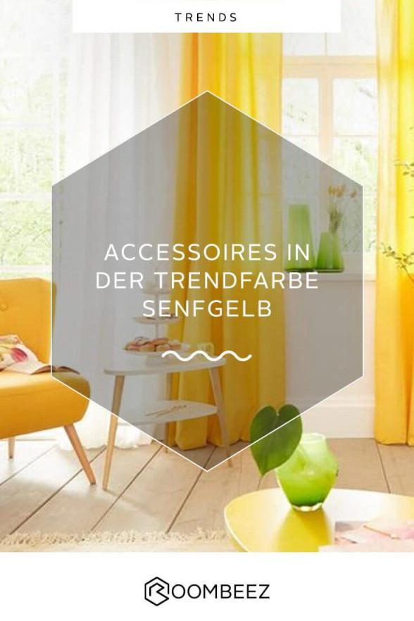 Trendfarbe Senfgelb Deko Und Wohnaccessoires In Gelb  Otto von Deko Gelb Wohnzimmer Bild