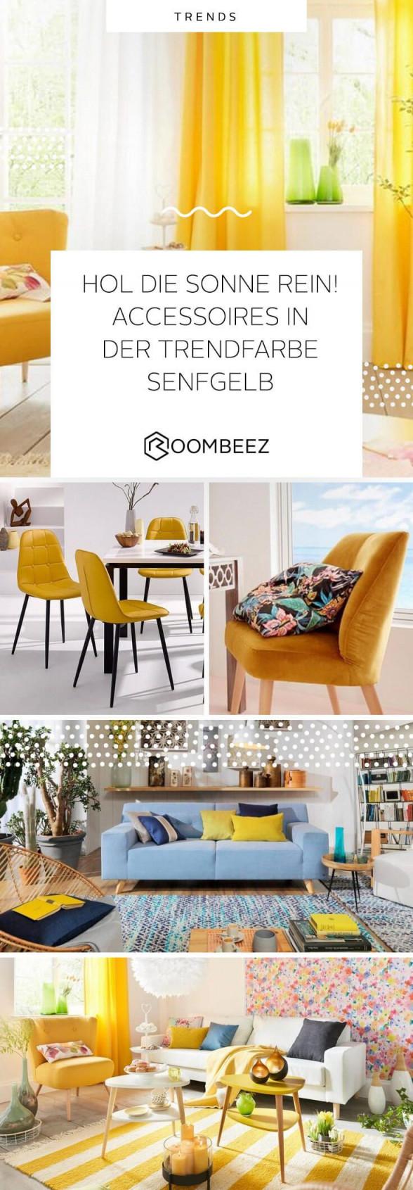 Trendfarbe Senfgelb Deko Und Wohnaccessoires In Gelb  Otto von Deko Gelb Wohnzimmer Photo