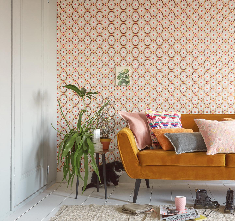 Trends Mit Nostalgieeffekt • Retrotapeten von Aktuelle Tapeten Trends Wohnzimmer Bild