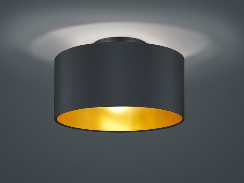 Trio Deckenleuchte Hostel 30 Cm Stahl Schwarzgold von Wohnzimmer Lampe Schwarz Gold Bild