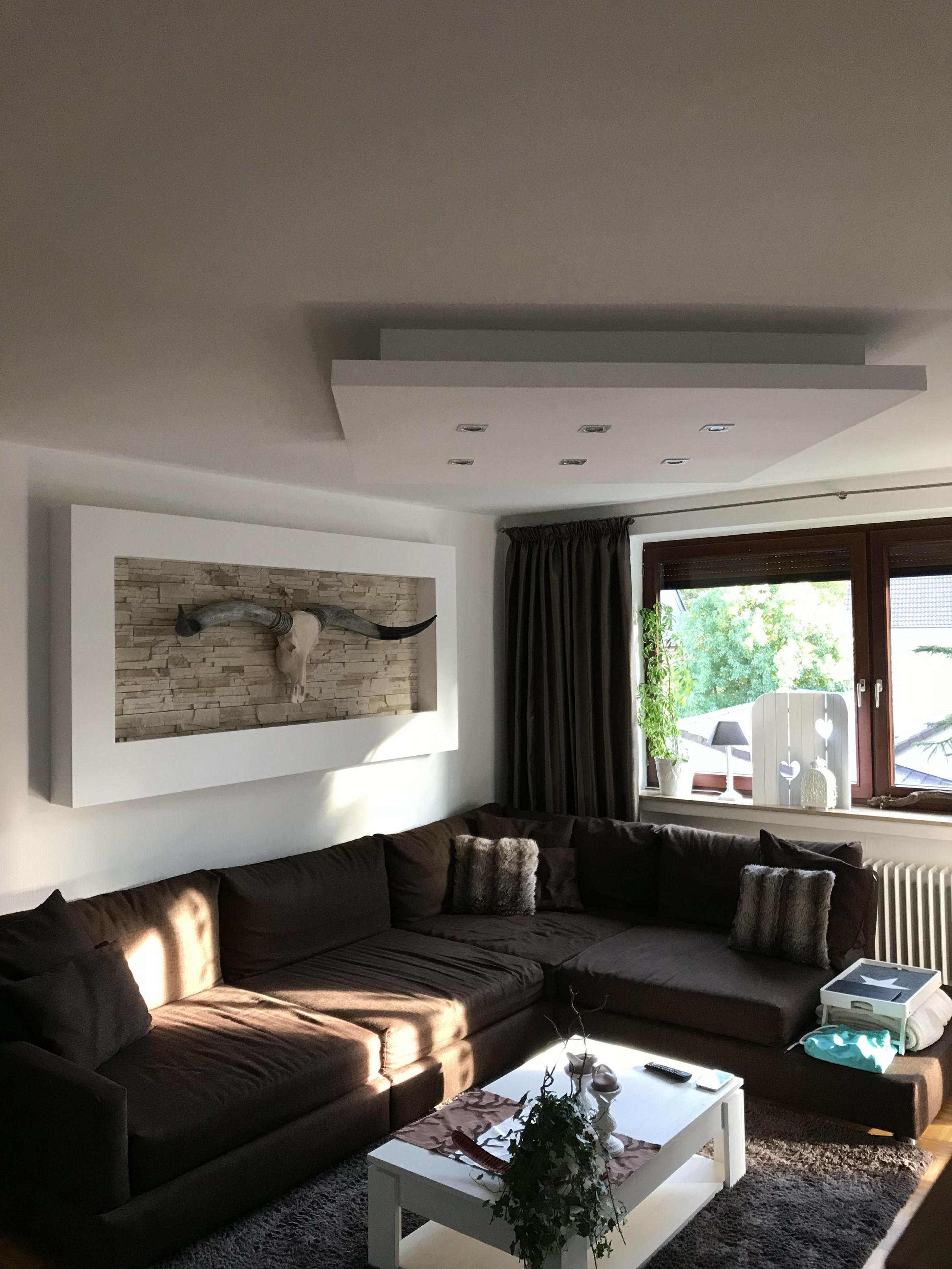 Trockenbaudeckenlampe Mit Direkter Und Indirekter von Deckenlampe Für Großes Wohnzimmer Bild