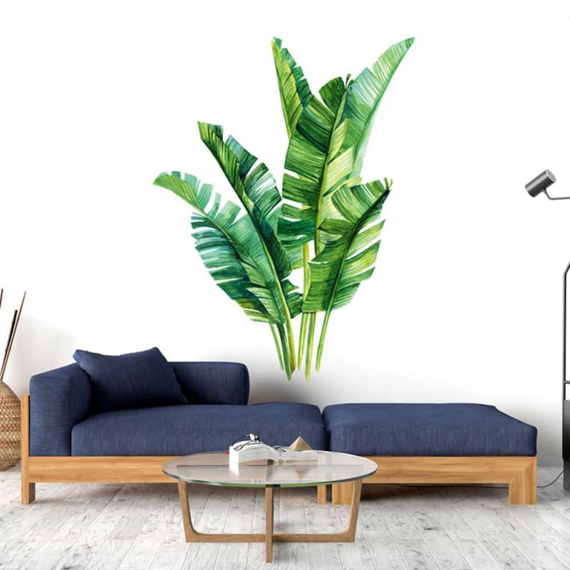 Tropischen Pflanzen Blätter Wand Aufkleber Grüne Pflanze Tapeten Hause  Moderne Kunst Vinyl Aufkleber Wandbild Grün Pflanzen Aufkleber L1 von Moderne Pflanzen Wohnzimmer Bild