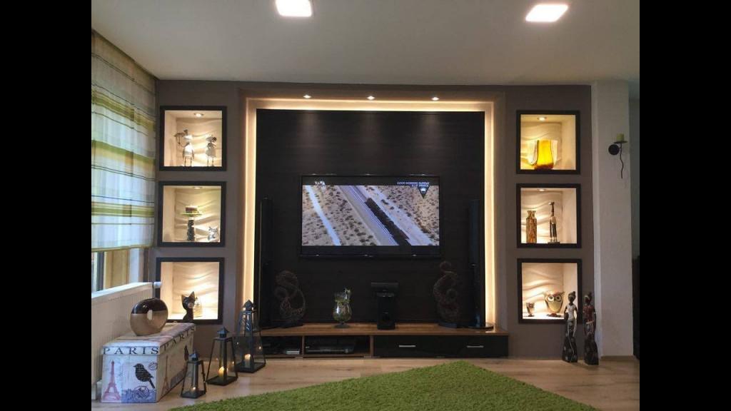 Tv Wand Selber Bauen Wohnzimmer Living Room Tv Wall  Youtube von Wohnzimmer Fernsehwand Gestalten Photo