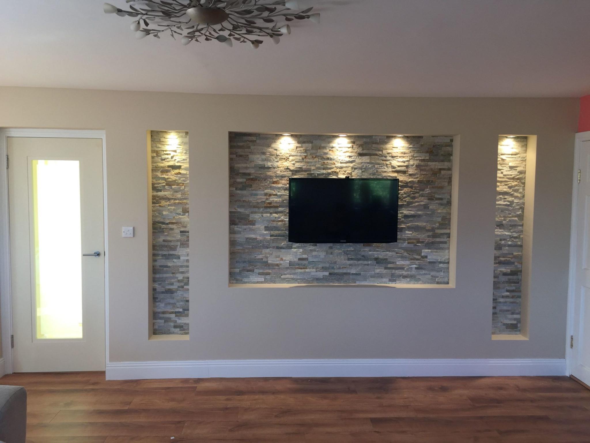 Tvwand In 2020  Tv Wanddekor Tv Wand Wohnzimmer von Deko Wand Wohnzimmer Bild