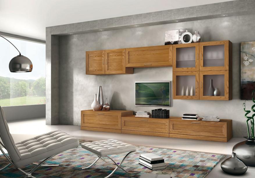 Tvwohnwand Aus Eschenholz Möbel Wohnwand In Stil Modern Tvmöbel  Wohnzimmer In Naturfarbe von Moderne Holzmöbel Wohnzimmer Bild