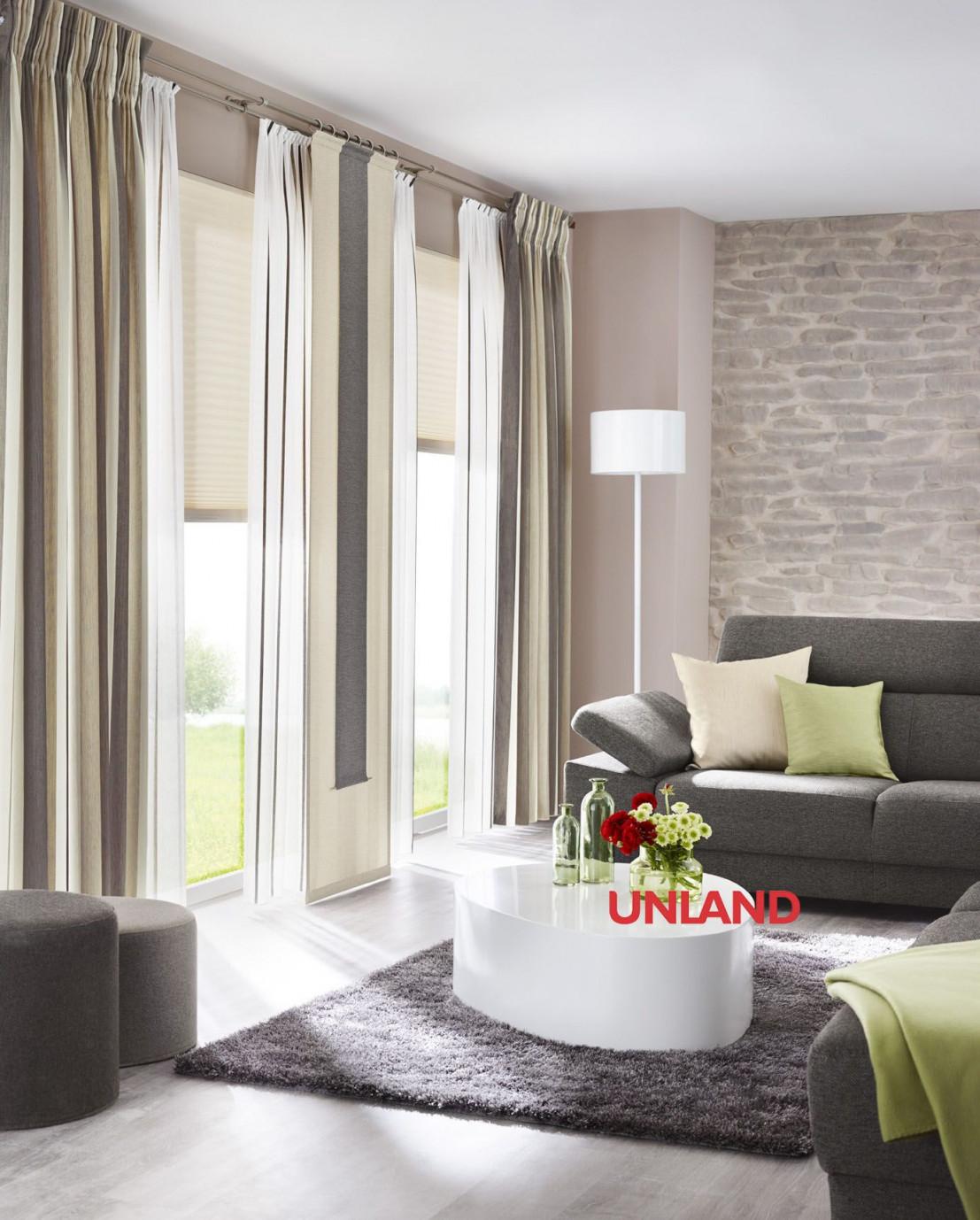 Unland Livingreet Fensterideen Gardinen Und Sonnenschutz von Gardinen Wohnzimmer Roller Bild
