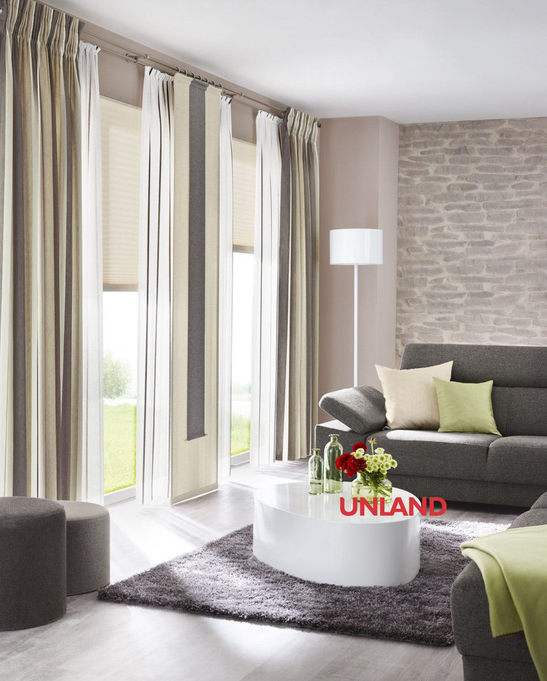 Unland Livingreet Fensterideen Gardinen Und Sonnenschutz von Moderne Wohnzimmer Gardinen Photo