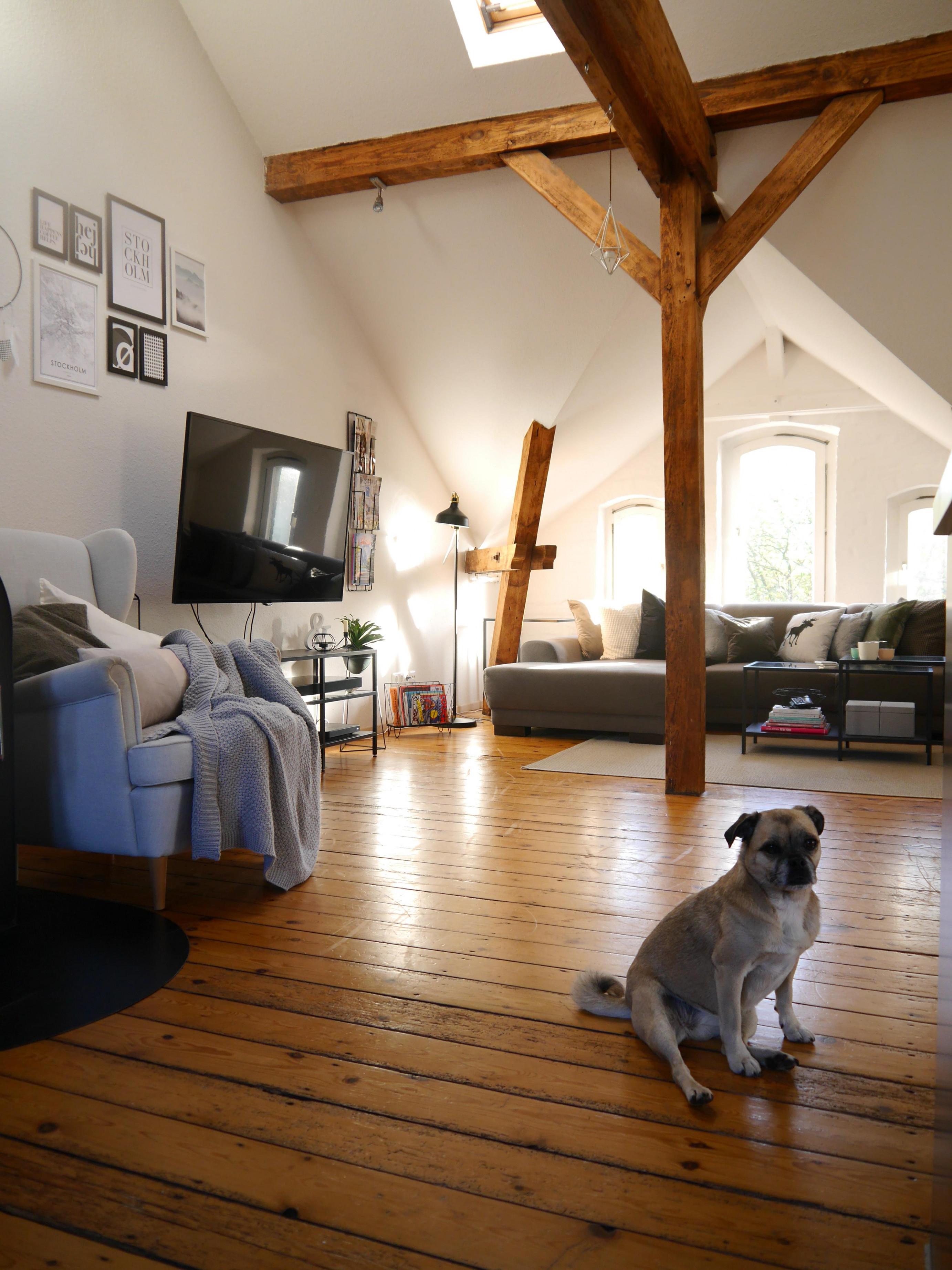 Unser Wohnzimmer Im Wunderschönen Friedrichsort Ist von Wohnzimmer Mit Balken Einrichten Bild