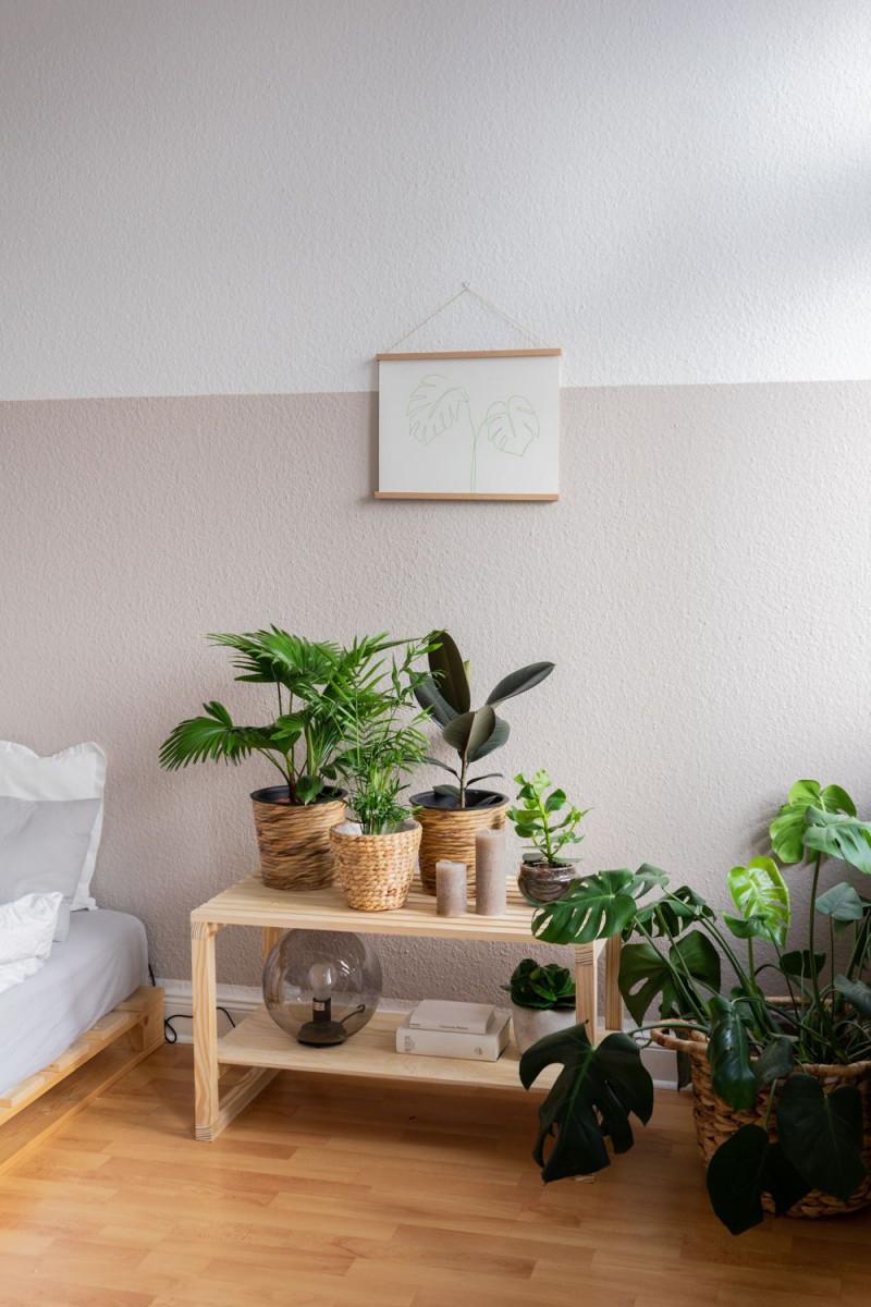 Urban Jungle Deko Idee In 2020  Wohnzimmer Pflanzen Diy von Wohnzimmer Pflanzen Deko Photo