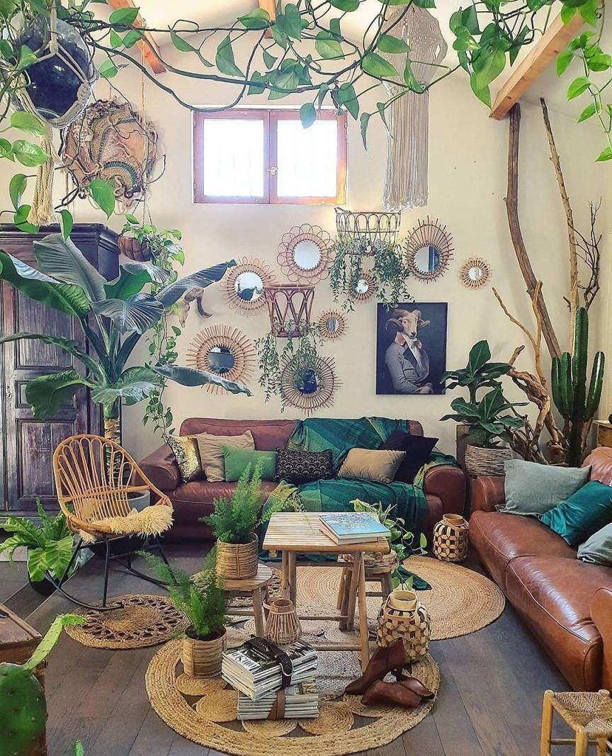 Urban Jungle Vibes@zebodeko 💚💚💚 In 2020  Urban von Wohnzimmer Mit Pflanzen Gestalten Photo