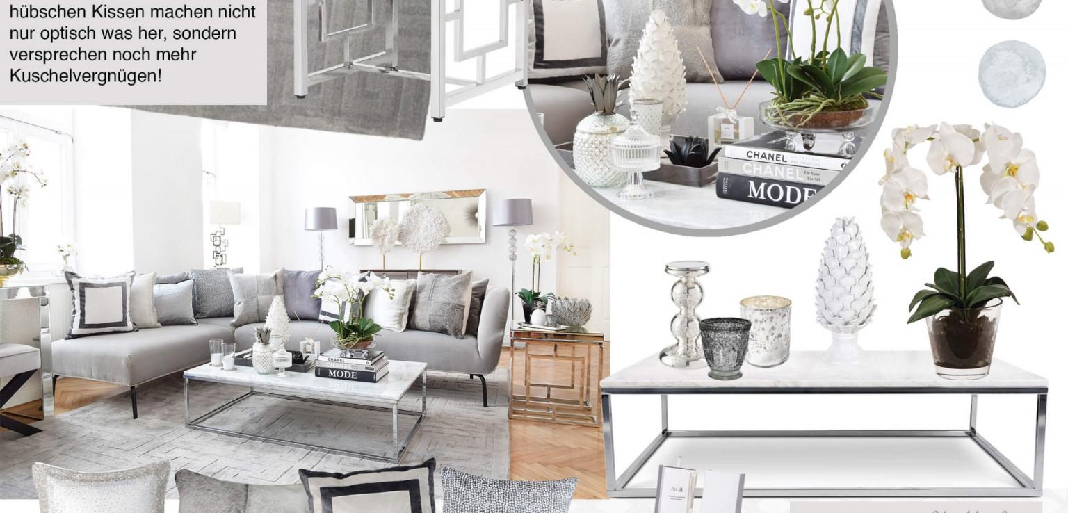 Urban Loft Livingroom  Wohnzimmer In Silber  Grau  Looks von Wohnzimmer Deko Grau Silber Bild