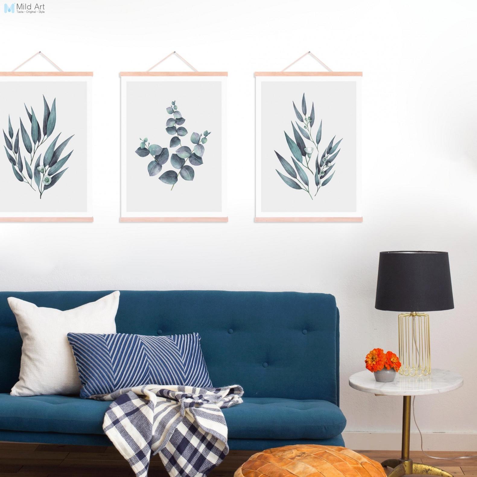 Us $1324 30% Offminimalistischen Grün Eukalyptus Blätter Holz Gerahmte  Poster Skandinavischen Wohnzimmer Wand Kunst Bild Home Deco Leinwand  Malerei von Gerahmte Bilder Für Wohnzimmer Bild