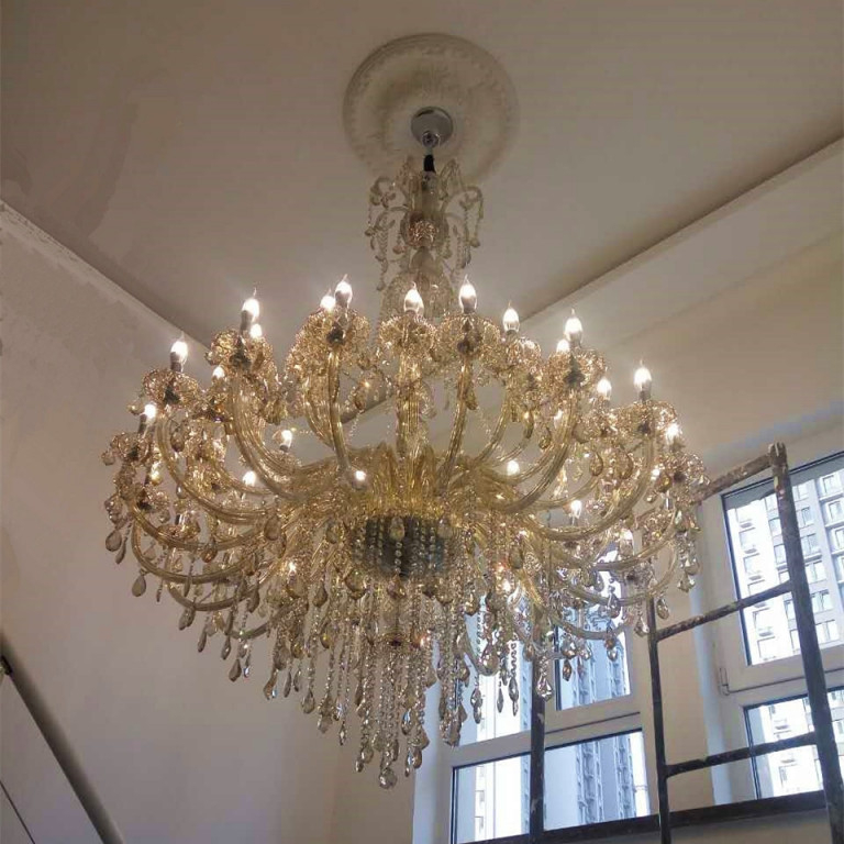Us $24120 10% Offglas Lampe Große Kronleuchter Licht Moderne Kronleuchter  Beleuchtung Wohnzimmer Lampe Hause Beleuchtung Große Kristall Kronleuchter von Große Lampe Wohnzimmer Bild