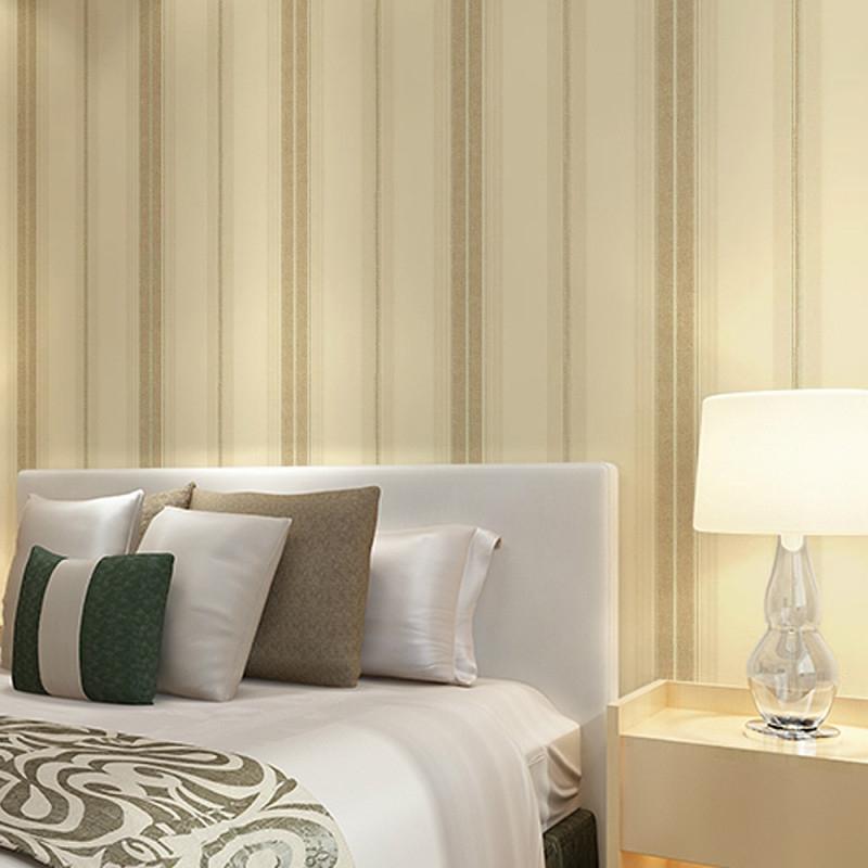 Us $2519 10% Offcheng Shuo Vlies Tapete Plain Farbigen Streifen Tapete  Das Wohnzimmer Fernseheinstellungswand Papier Alte Person Zimmer von Streifen Tapeten Wohnzimmer Bild