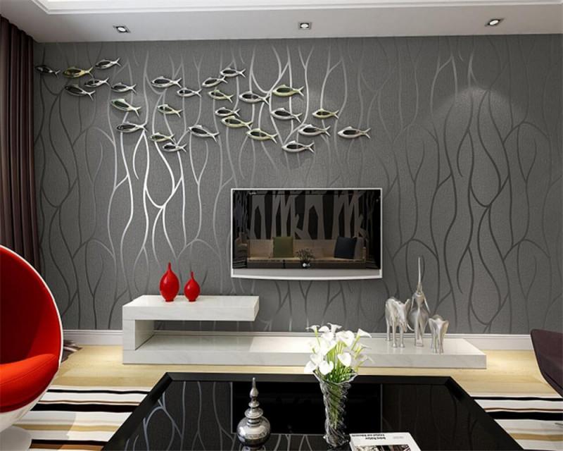 Us $4608 36% Offbeibehang Tapeten Zeitgenössische Und Vertraglich  Wohnzimmer Tv Einstellung Streifen Modische Haushalt Dekorative 3D  Tapetefashion von Streifen Tapeten Wohnzimmer Photo