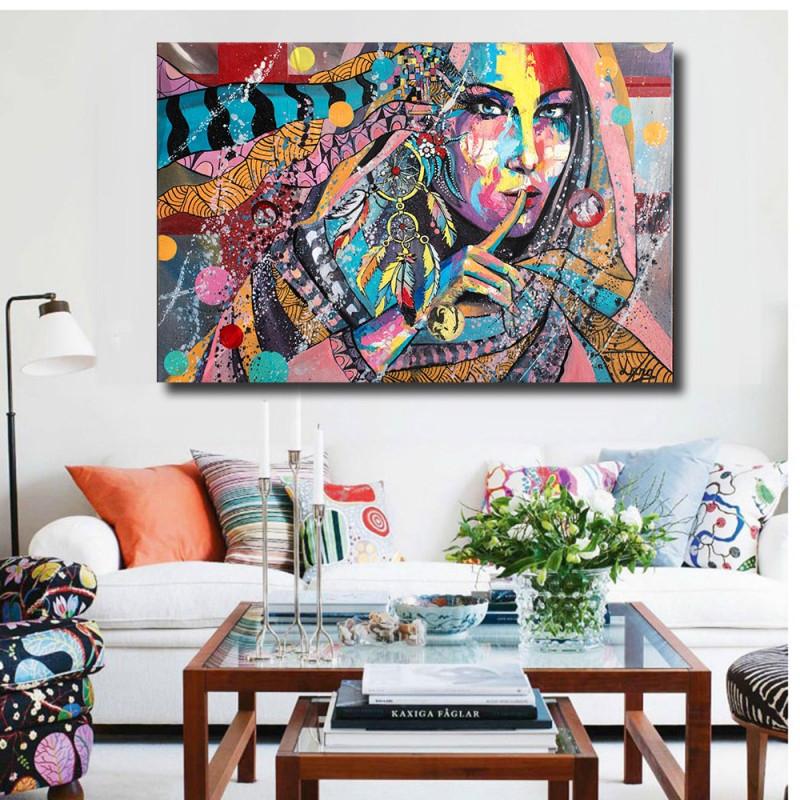 Us $509 32% Offhdartisan Moderne Kunst Graffiti Sexy Voluptuous Schönheit  Gemälde Für Wohnzimmer Wand Leinwand Home Decor Posterpainting For Living von Bilder Moderne Kunst Wohnzimmer Bild