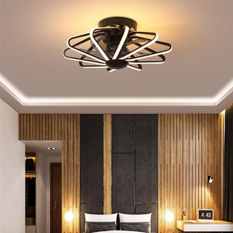 Us $7926 40% Offled Decke Ventilator Lampe Fan Licht Schlafzimmer  Wohnzimmer Lampen Integrierte Fans Ac220V Reinem Kupfer Motor Mit  Fernbedienung von Wohnzimmer Lampe Kupfer Bild