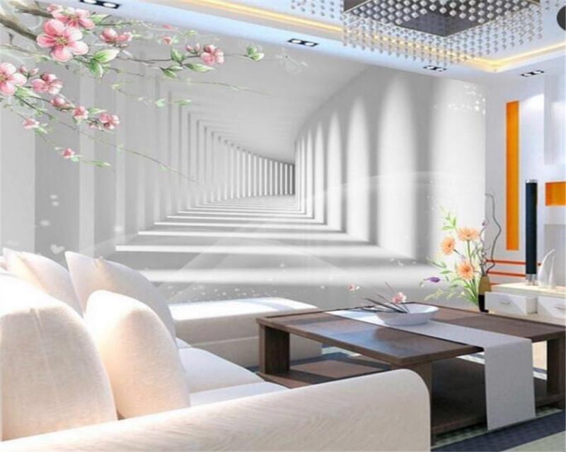 Us $855 43% Offbeibehang 3D Mode Blume Promenade 3D Verlängerung Raum  Foto Tapete 3D Wohnzimmer Schlafzimmer Tv Hintergrund Wand 3D Tapetephoto von Wohnzimmer Tapeten 3D Photo