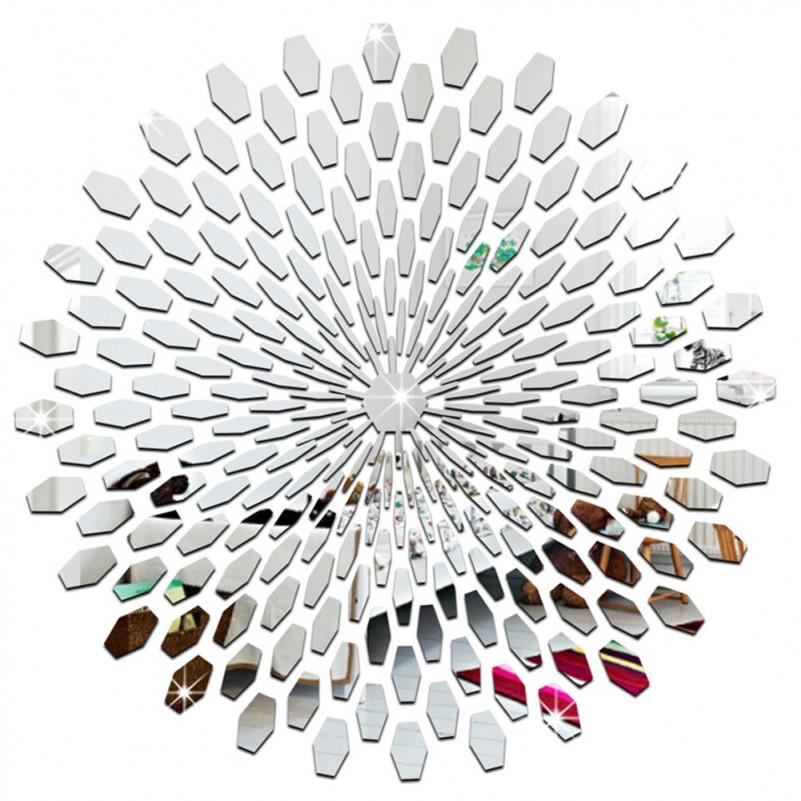 Us $955 18% Offsonnenblumen Runde Spiegel Wandaufkleber Acryl Wandhaupt  Aufkleber Für Schlafzimmer Wohnzimmer Moderne Wanddekoration Kunstmirror von Moderne Wanddekoration Wohnzimmer Bild