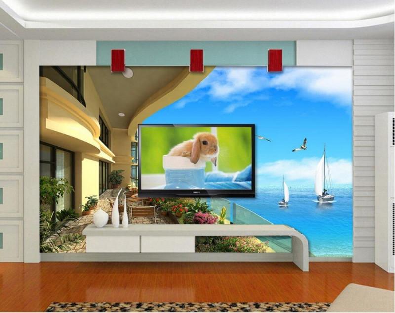 Us $96 68% Off3D Wallpaper Natur Schöne Landschaft Balkon 3D Tapete Für  Moderne Wohnzimmer Vliestapetewallpaper Nature3D Wallpaper Nature3D von Schöne Moderne Wohnzimmer Bild