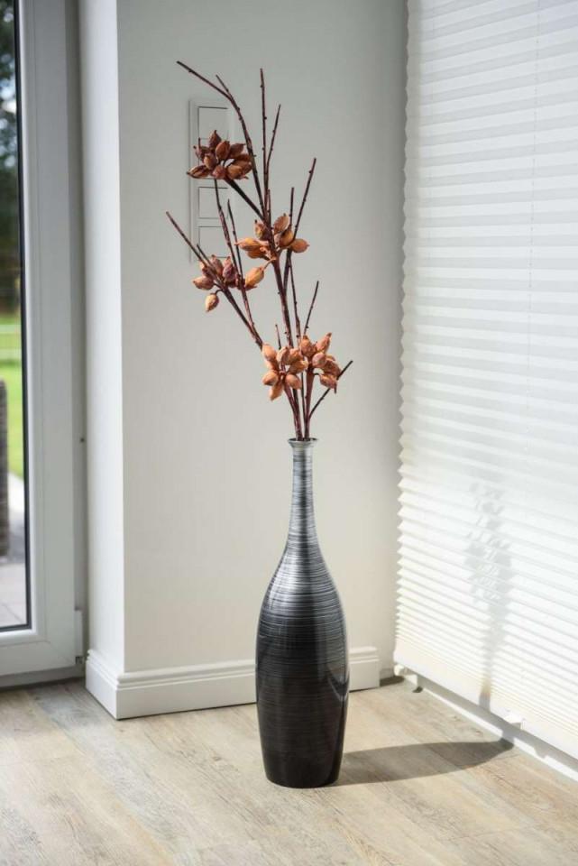 Vase Deko Bodenvase In 2020  Silber Wohnzimmer Dekoration von Deko Vasen Für Wohnzimmer Bild