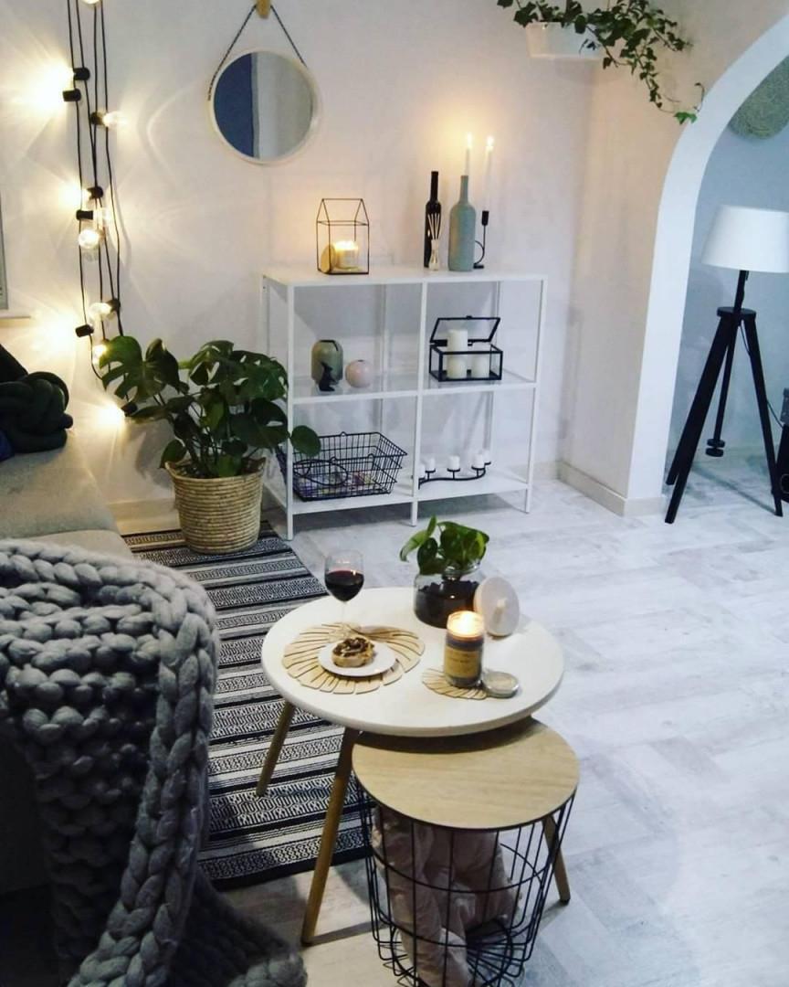 Verpasse Deinem Zuhause Ein Leuchtendes Upgrade Die Led von Lichterkette Deko Wohnzimmer Bild