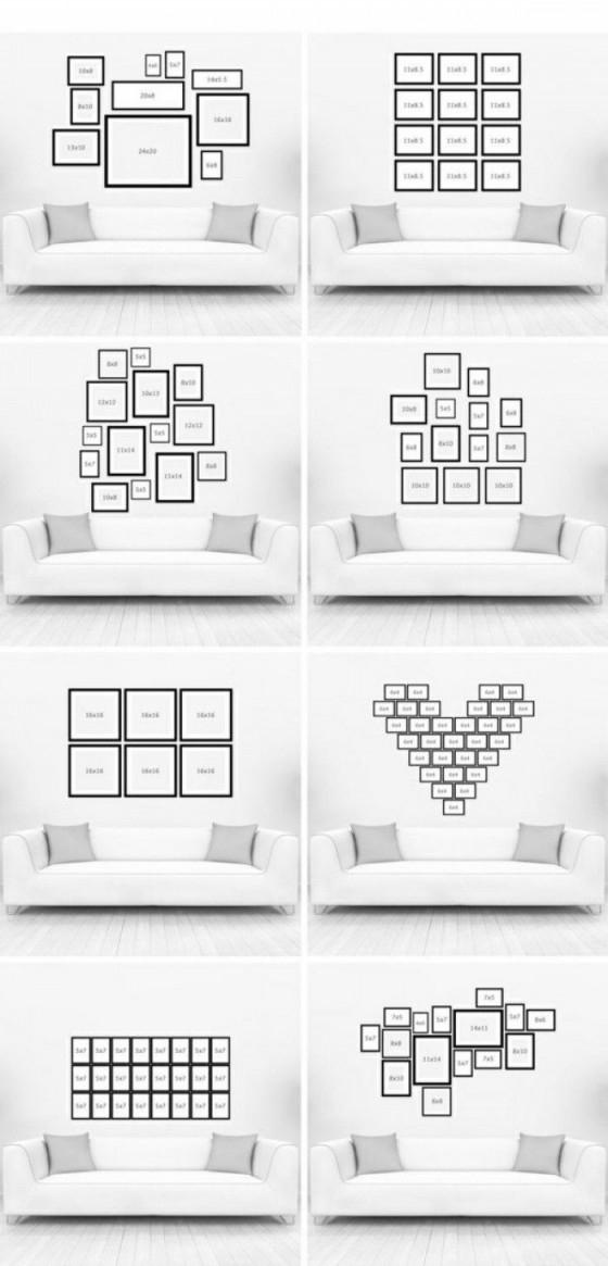 Verschiedene Ideen Für Eine Kreative Fotowand  Wanddeko von Bilderwand Ideen Wohnzimmer Bild