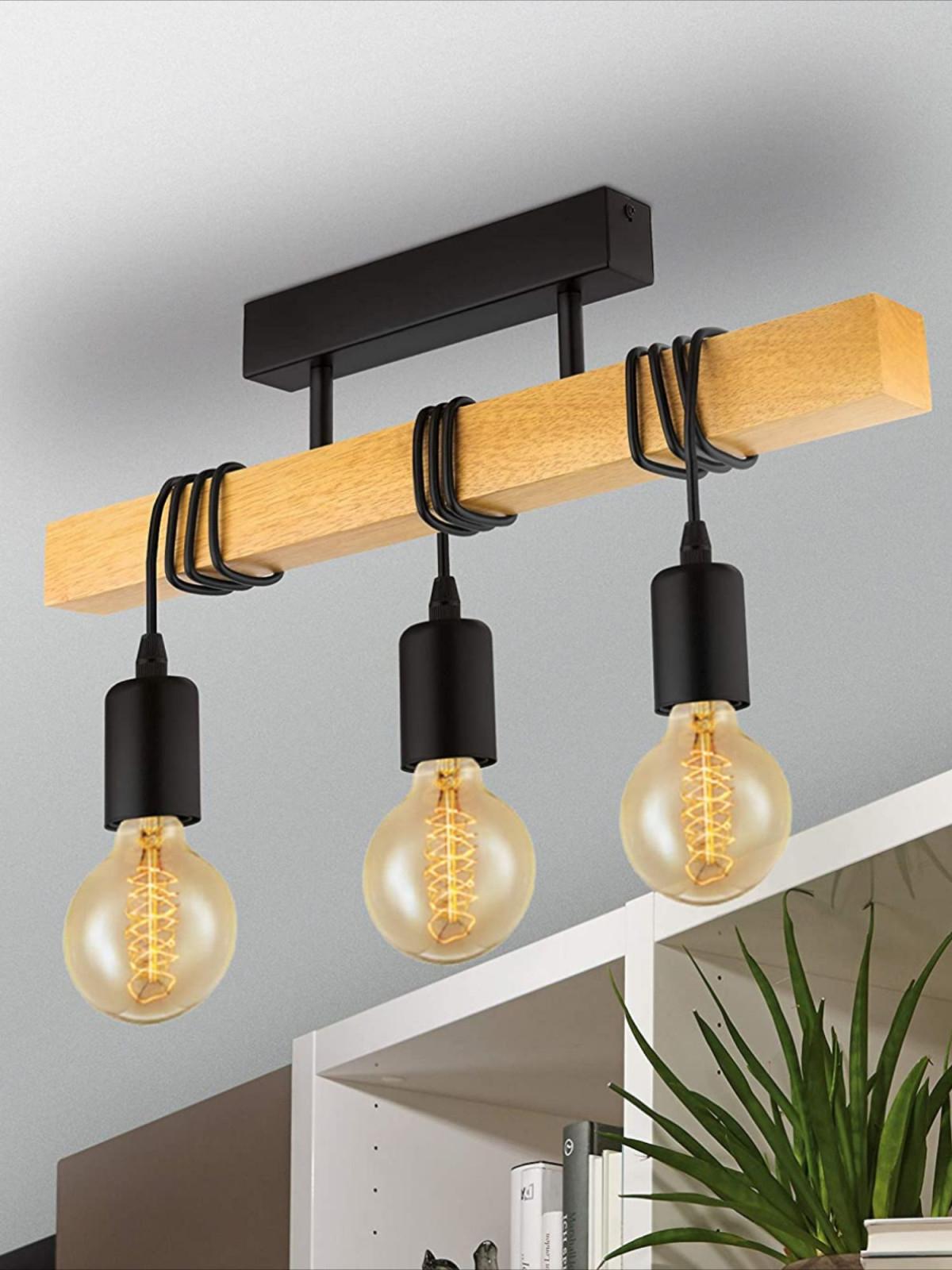Vintage Deckenleuchte Im Industrial Design In 2020 von Deckenlampe Wohnzimmer Industrie Photo