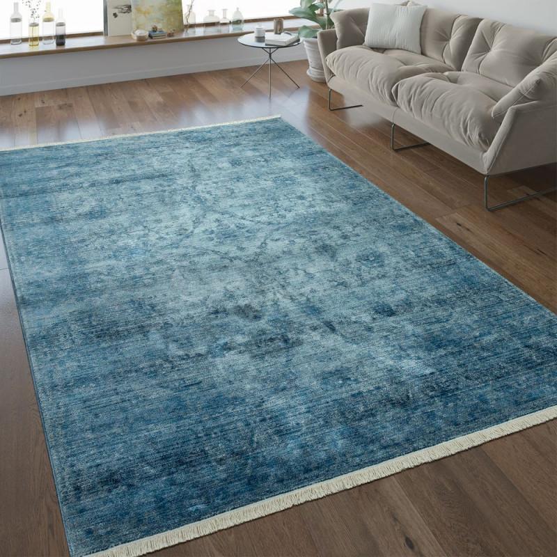 Vintage Teppich Wohnzimmer Ornamente von Teppich Blau Wohnzimmer Bild