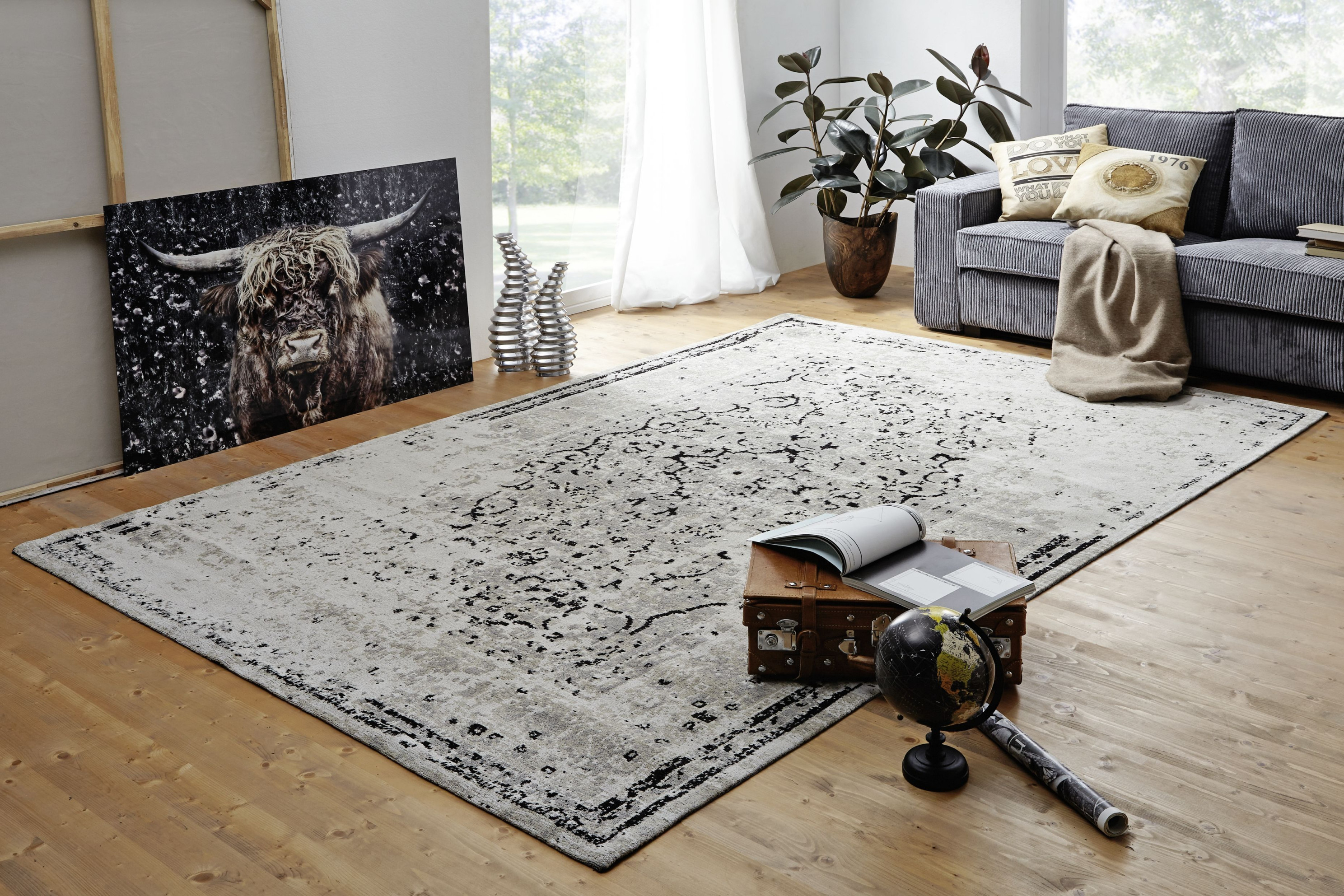 Vintage Teppiche ✓ Schnelle Lieferung ✓ Tiefpreisgarantie von Teppich Wohnzimmer Hell Photo