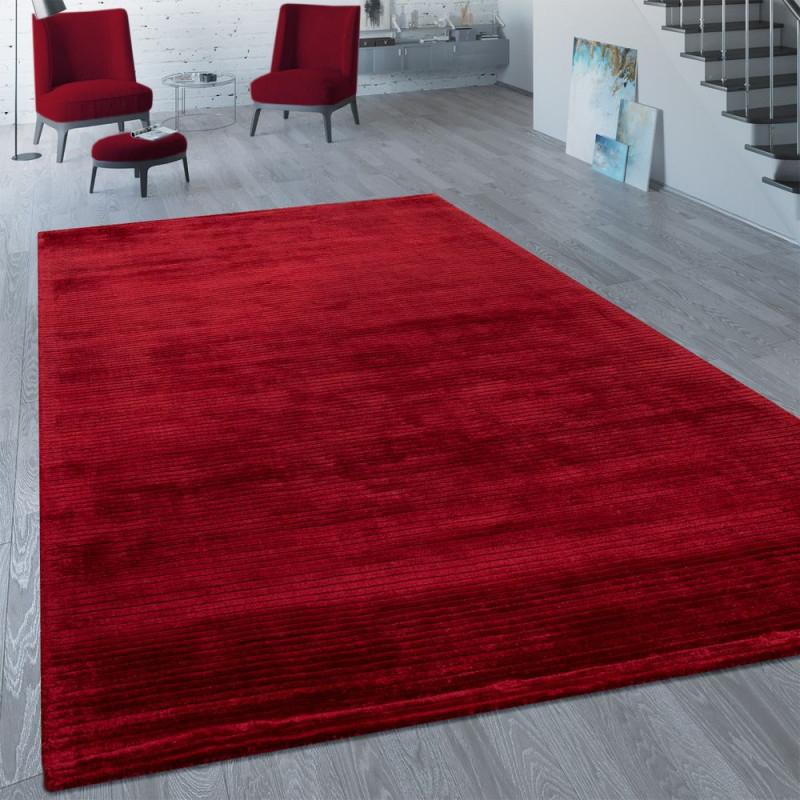 Vintage Viscoseteppich Unifarben von Roter Teppich Wohnzimmer Bild