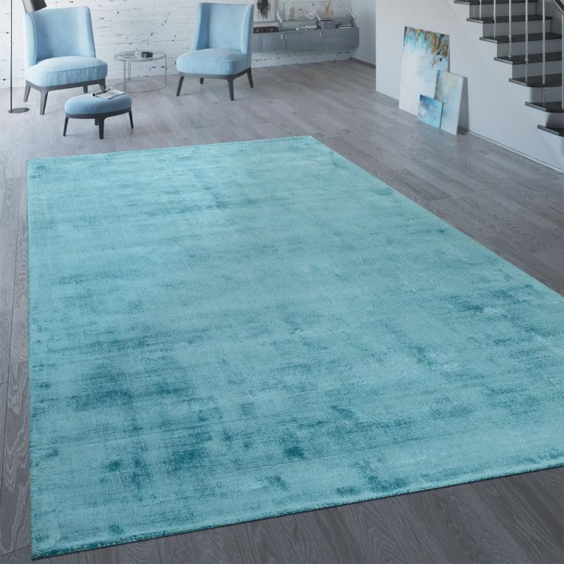 Vintageteppich Wohnzimmer Handgefertigt von Wohnzimmer Teppich Türkis Bild
