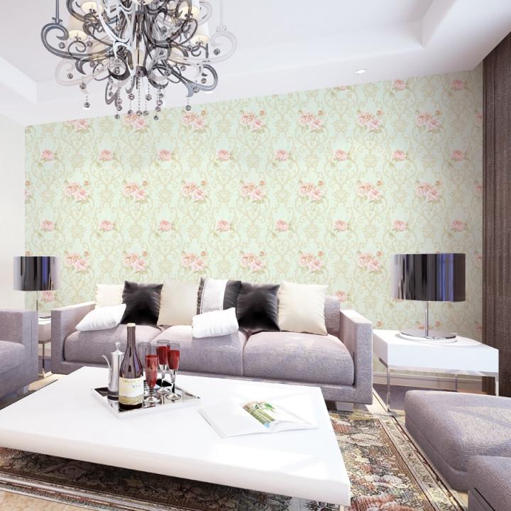 Vinyl Orchidee Wandbilder Wallpaper Moderne Beige 3D von Italienische Tapeten Wohnzimmer Photo